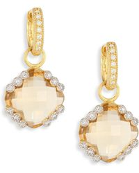 Jude Frances - Provence Champagne Citrine & Diamond Earring Charms - Lyst