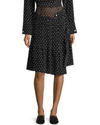 Sandy Liang - Asymmetric Silk Polka-dot Skirt - Lyst
