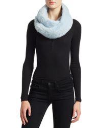 Saks Fifth Avenue - Knit Mink Infinity Scarf - Lyst