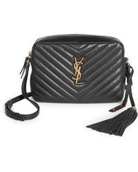 Saint  Saint Laurent - Small Leather Matelasse Monogram Lou Camera Bag -  Lyst innovative design 2e690 deaeb ... 66b7f5ed7b8ee