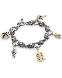 Konstantino - Women's Gaia Sterling Silver Charm Bracelet - Silver Gold - Lyst