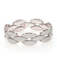 Roberto Coin - Retro 18k White Gold & Diamond Bangle Bracelet - Lyst