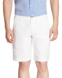 Saks Fifth Avenue   Collection Solid Linen Shorts   Lyst