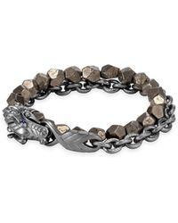 John Hardy - Legends Naga Silver Double Wrap Bracelet - Lyst