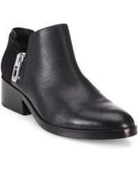 3.1 Phillip Lim - Alexa Zipped Leather & Suede Ankle Booties - Lyst