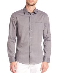 John Varvatos | Adjustable Sleeve Slim Fit Shirt | Lyst