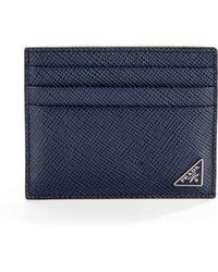 Prada - Saffiano Cuir Bicolor Card Case - Lyst