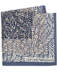 Emporio Armani - Printed Silk Handkerchief - Lyst