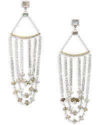 Coomi - Spring Labradorite, Diamond & Sterling Silver Chandelier Earrings - Lyst