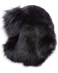 Lyst - Saint Laurent Felted Lapin Hat With Feathers Hatband in Black ... db79a2b30971