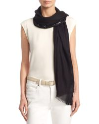 Loro Piana - Shadow Night Cashmere & Silk Scarf - Lyst