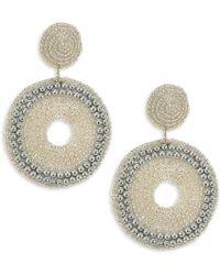 Kenneth Jay Lane - Embellished Drop Earrings - Lyst