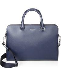 Michael Kors - Cross-grain Leather Double-zip Briefcase - Lyst