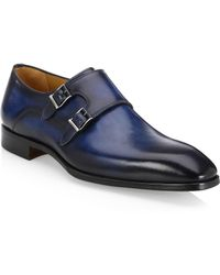 Saks Fifth Avenue - Collection By Magnanni Double Monk Strap Derby Shoes - Lyst