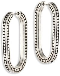John Hardy - Dot Large Sterling Silver Link Earrings/2 - Lyst