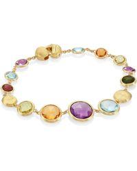 Marco Bicego - Jaipur Semi-precious Multi-stone & 18k Yellow Gold Bracelet - Lyst