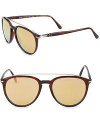 Persol - Striped 55mm Pilot Sunglasses - Lyst