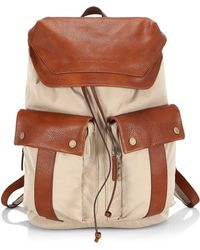 Brunello Cucinelli - Leather-trim Backpack - Lyst
