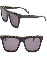 Stella McCartney - 54mm Rectangle Sunglasses - Lyst