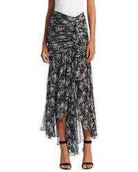 Cinq À Sept - Draped Asymmetric Skirt - Lyst