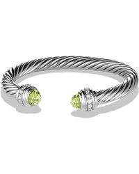 David Yurman - Cable Classics Bracelet With Diamonds - Lyst