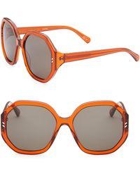 Stella McCartney - 56mm Octagon Sunglasses - Lyst
