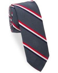 Thom Browne - Striped Silk-cotton Tie - Lyst