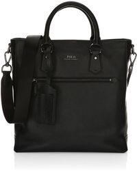 Polo Ralph Lauren - Tailored Pebble Leather Tote - Lyst
