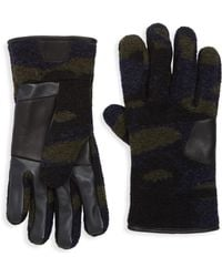UGG - Fabric Smart Leather Gloves - Lyst