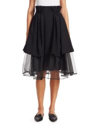 Noir Kei Ninomiya - Tiered Tulle Paper Bag Waist Skirt - Lyst