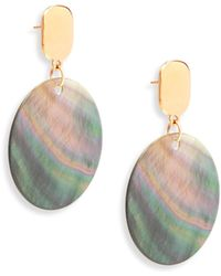 Nest - Statement Grey Mother-of-pearl Drop Earrings - Lyst