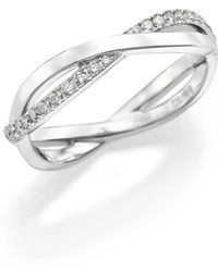 De Beers - Infinity Diamond & 18k White Gold Half Band Ring - Lyst
