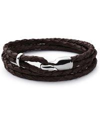 Miansai - Trice Sterling Silver & Leather Hook Bracelet - Lyst