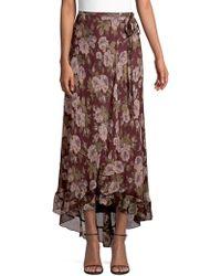 Polo Ralph Lauren - Alina Floral Wrap Skirt - Lyst