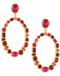 Gurhan - Amulet Hue Large Multi-stone & 24k Yellow Gold Drop Earrings - Lyst