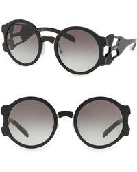 Prada - Round Geometric Sunglasses - Lyst