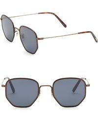 4bdd4bcc9ab Lyst - Boohoo Hexagon Metal Frame Sunglasses in Blue for Men