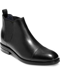 Cole Haan - Wagner Grand Leather Chelsea Boots - Lyst