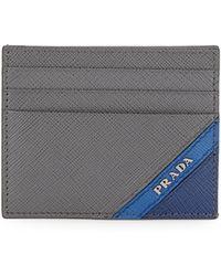 Prada - Portacarte Saffiano Leather Card Case - Lyst