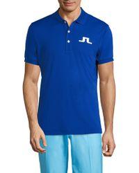 J.Lindeberg - Big Bridge Reg Tx Jersey Polo - Lyst