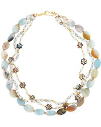 Chan Luu - Three-strand Amazonite & Abalone Necklace - Lyst
