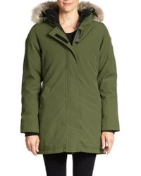 Canada Goose - Victoria Fur-Trrimmed Down-Padded Parka Jacket  - Lyst