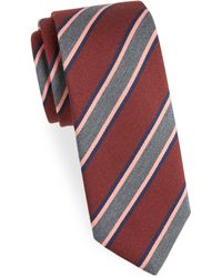 Charvet - Striped Wool Tie - Lyst