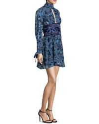 Misha Collection - Luella Floral Fit-&-flare Dress - Lyst