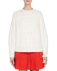 Givenchy - Fisherman Cable-knit Sweater - Lyst