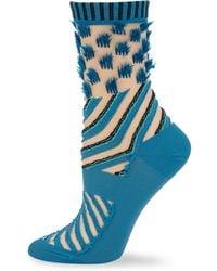 Issey Miyake | Double Stream Textured Sock | Lyst