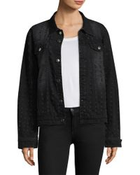 Each x Other - Graphic Ripped Denim Jacket - Lyst