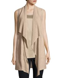 Lafayette 148 New York - Drapped Collar Vest - Lyst