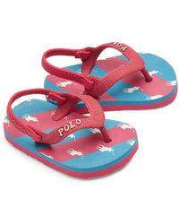 Ralph Lauren | Baby's Amino Stripe Thong Sandals | Lyst