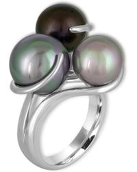 Majorica | 9-12mm Organic Pearl & Sterling Silver Ring | Lyst